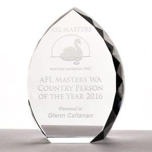 AFL Masters Trophy (Clear Optical Crystal Trophy – Arch)