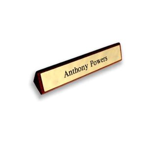 Name Plaque - Printed Brass