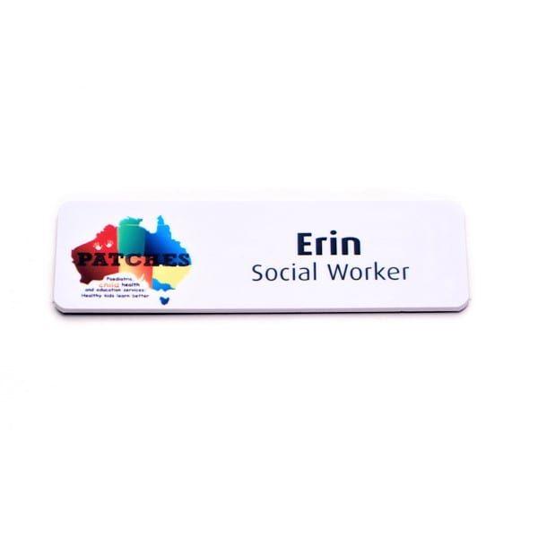 Name Badges   Printed Plastic Name Bar – CP25