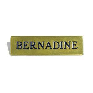 Name Badges | Engraved Metal Bar Without Border – N50 2L