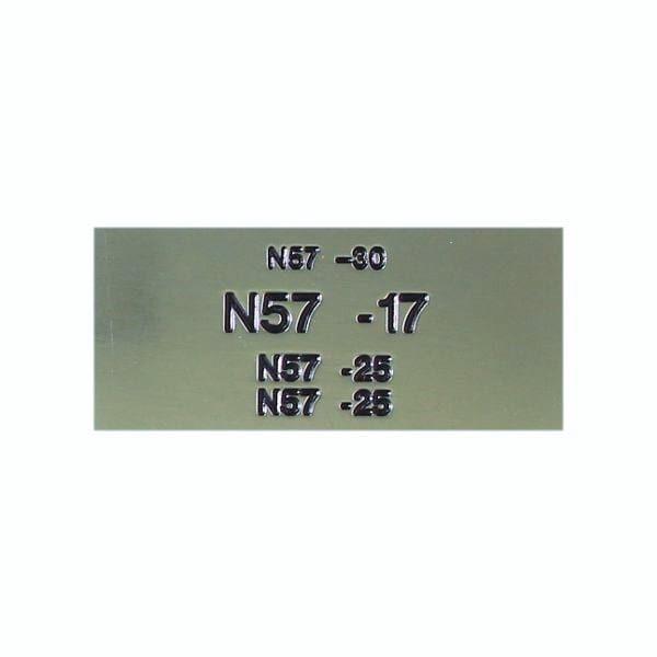 Name Badges   Engraved Metal Bar Without Border – N57 4L