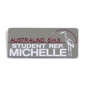 Engraved Metal Bar (School Badge) Australind SHS