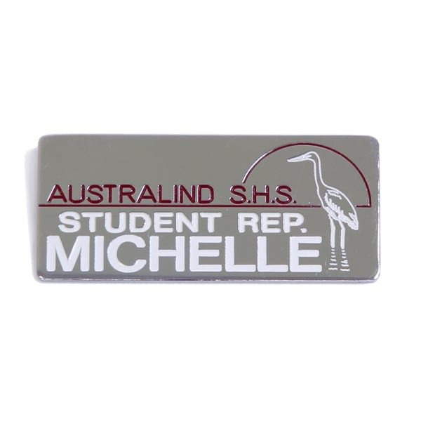 Engraved Metal Bar (School Badge) Australind SHS