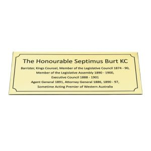 Satin Finish Brass Plaque