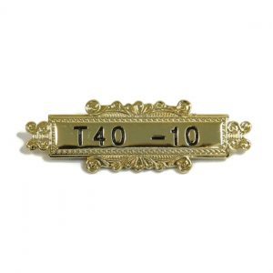 Engraved Metal Bar With Border – T40