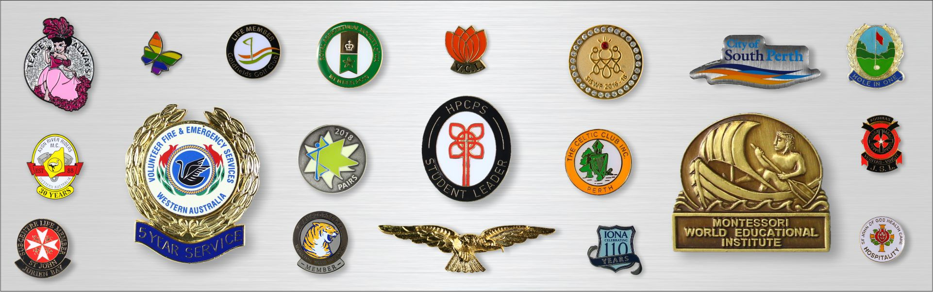 Embossed Printed Lapel Badges - Sheridan's Badges and Engraving