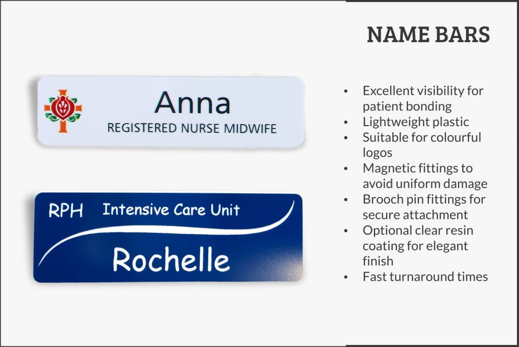 Name Badges - Health Services & Hospital - Sheridan's Badges and Engraving