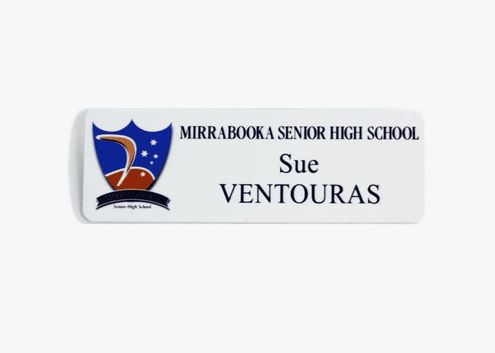 Plastic School Name Badge